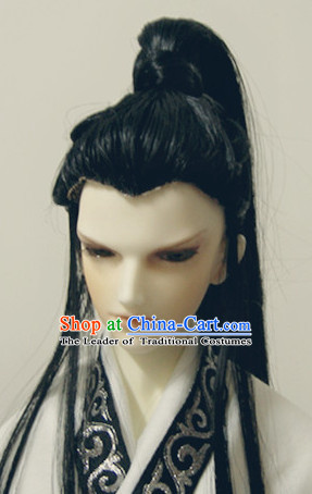 Ancient Chinese Style Black Hair Wigs for Men