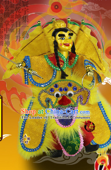 Taiwan Traditional Chinese Ancient Handmade Dianyin Prince Hand Marionette Puppet Hand Puppets
