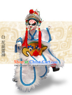 Traditional Chinese Handmade Thunder Spirit Hand Puppets Hand Marionette Puppet
