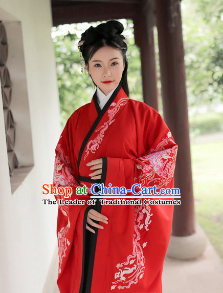 Ancient Chinese Han Dynasty Princess Hanfu Garment Outfit Complete Set