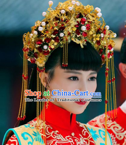 Top Chinese Classic Wedding Headwear Phoenix Crown Headpieces for Brides
