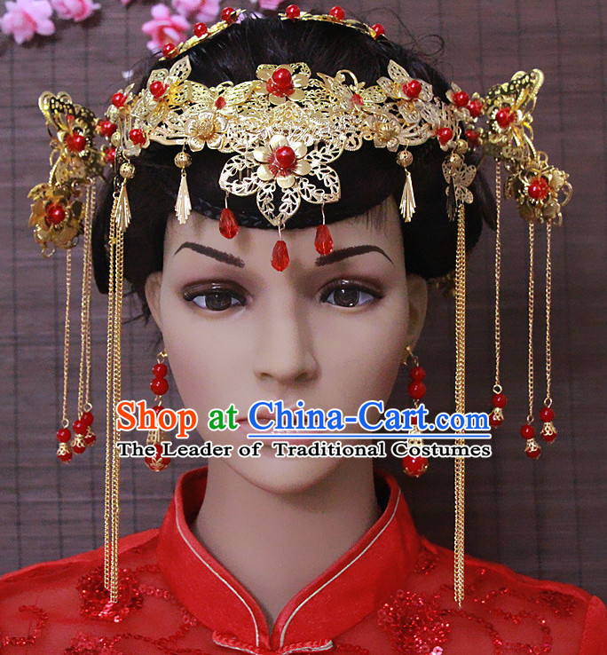 Top Chinese Classic Wedding Headpieces Accessories Jewelry for Brides