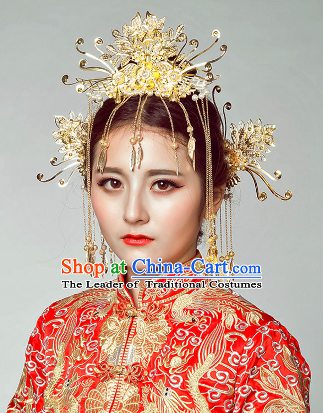 Top Chinese Classic Wedding Bridal Headpieces Accessories Jewelry for Brides