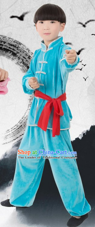 Chinese Kung Fu Costume for Kids Girls Boys