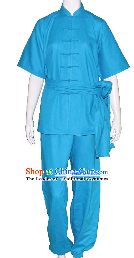 Chinese Traditional Kung Fu Martial Arts Practice and Competition Costume Wing Chun Apparel Taiji Tai Chi Uniform for Adults Children Women Girls