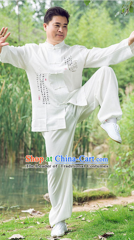 Chinese Asian Kung Fu Martial Arts Practice and Competition Costume Wing Chun Apparel Taiji Tai Chi Uniform for Adults Children Men Women Boys Girls