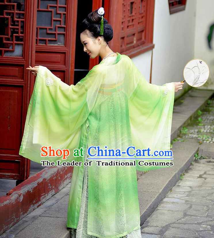Ancient Chinese Tang Dynasty Princess Empress Queen Embroidered Clothing and Headpieces Complete Set for Women or Girls