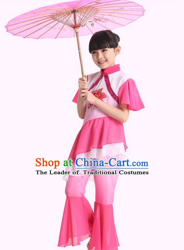 Chinese Folk Mandarin Dance Costumes for Girls Kids Children
