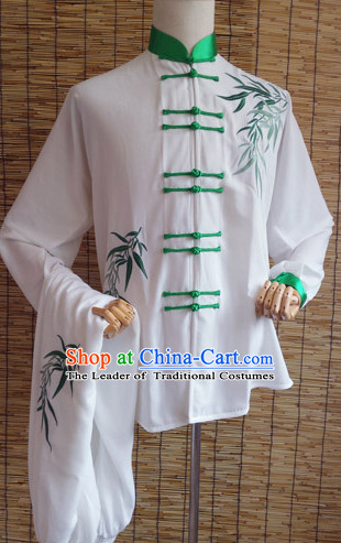 Embroidered Bamboo Tai Chi Taiji Competition Dresses