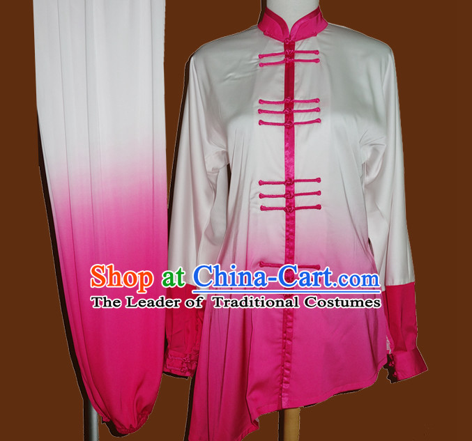 Color Change Top Mandarin Tai Chi Taiji Kung Fu Martial Arts Competition Uniform Dresses Suits Outfits for Adults