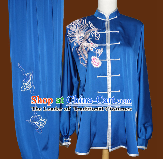 Top Mandarin Tai Chi Taiji Kung Fu Martial Arts Competition Uniform Dresses Suits Outfits for Kids Children Boys Girls