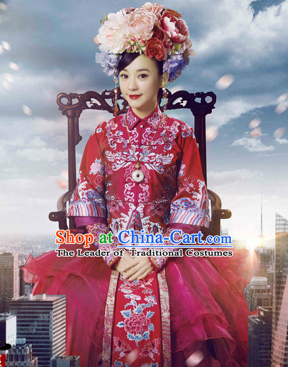Qing Dynasty Bu Bu Jing Xin Princess Royal Clothing for Women