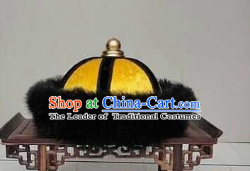 Handmade Ancient Traditional Chinese Emperor Hat Oriental Hats China Fashion for Men Boys