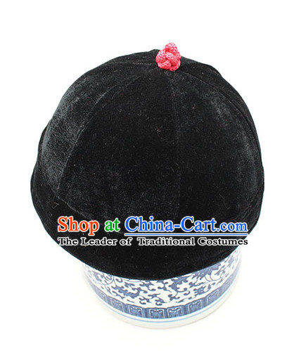 Top Handmade Classica Black Velvet Traditional Hat for Men
