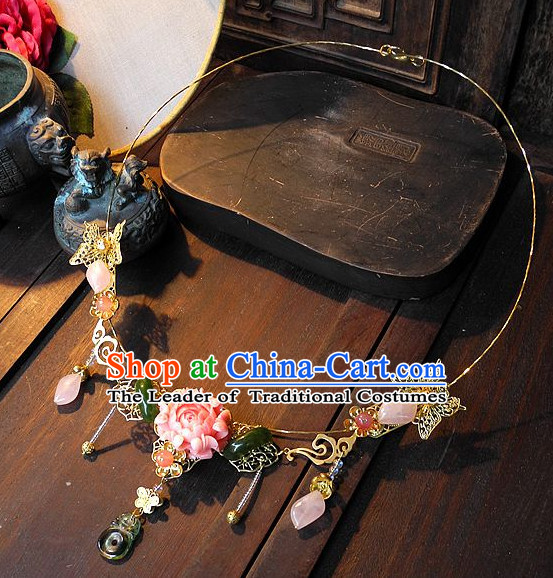 Handmade Ancient Chinese Imperial Royal Empress Princess Empress Necklace