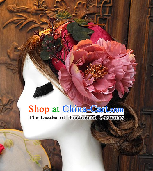 Top Imperial Royal Handmade Flower Decoration Hat for Ladies
