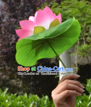 Chinese Lotus Flower Dance Props for Kids