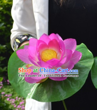 Chinese Lotus Flower Dance Props for Adults or Kids
