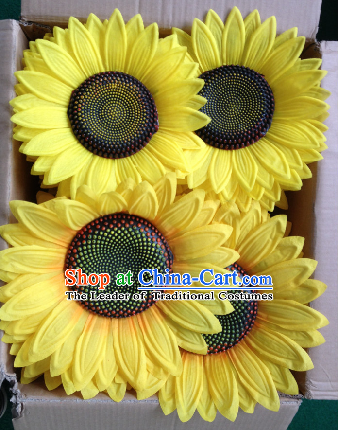 0.5 Meter Large Chinese Sunflower Dance Props for Adults or Kids