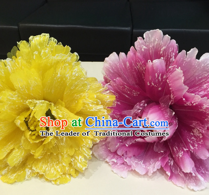 Chinese Peony Flower Dance Props for Adults or Kids