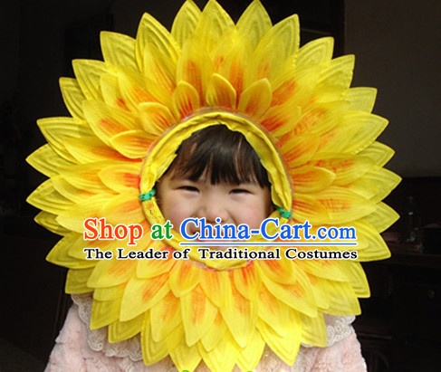 Beautiful Sunflower Face Props for Children