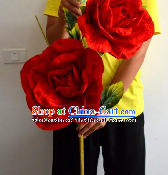 Big Red Rose Flower Dance Props Props for Dance Dancing Props for Sale for Kids Dance Stage Props Dance Cane Props Umbrella Children Adults