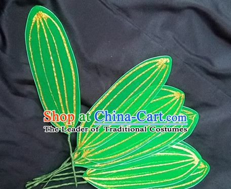 Green Leaf Decorations Fan Dance Props Props for Dance Dancing Props for Sale for Kids Dance Stage Props Dance Cane Props Umbrella Children Adults