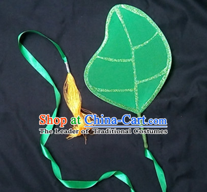 Green Leaf Dance Props Props for Dance Dancing Props for Sale for Kids Dance Stage Props Dance Cane Props Umbrella Children Adults
