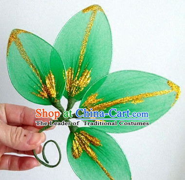 Green Leaf Dance Headpieces