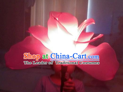 Big Handmade Luminous Flower Dance Props Props for Dance Dancing Props for Sale for Kids Dance Stage Props Dance Cane Props Umbrella Children Adults