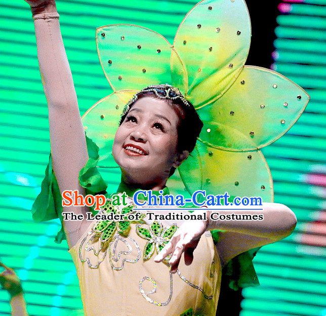 Big Traditional Jasmine Flower Dance Headpieces Headdress Headwear for Adults and Children