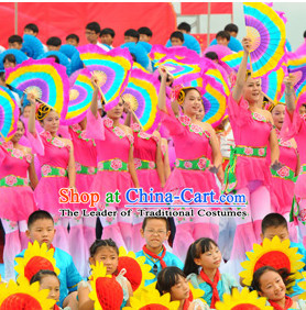 Traditional Chinese Colorful Dance Fan