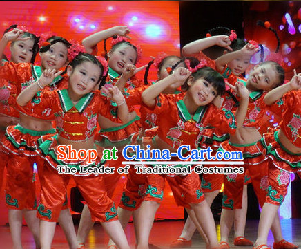 Chinese Folk Festival Dance Costumes for Kids