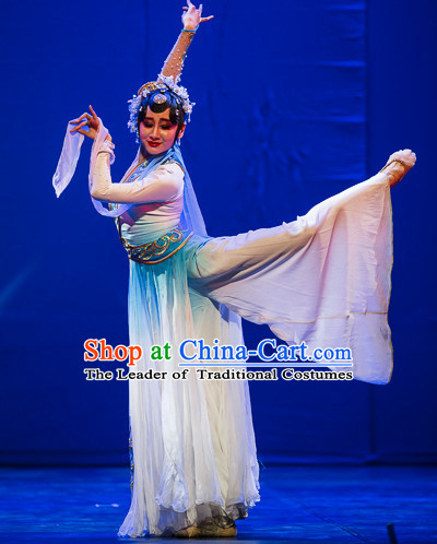 Chinese Professional Stage Classical Dancing Costume and Headpieces Complete Set for Women
