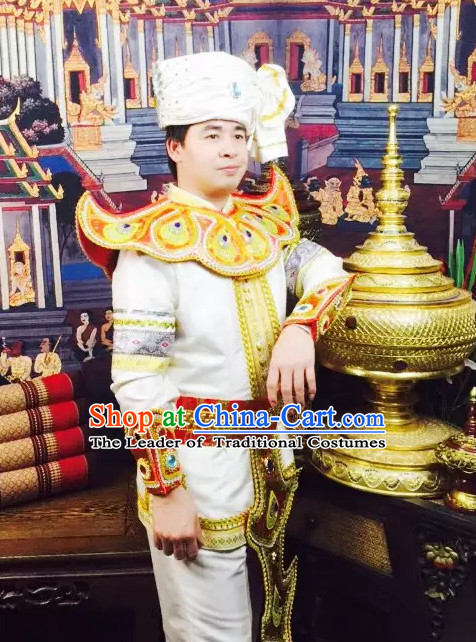 f1b8fc318 Top Traditional National Thai Garment Dress Thai Traditional Dress Dresses  Wedding Dress Complete Set for Men