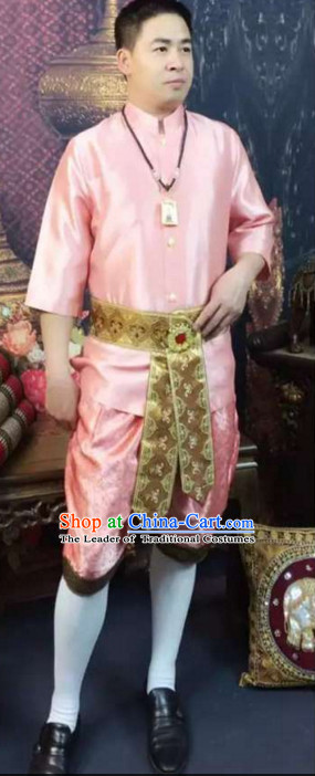 Top Traditional National Thai Garment Dress Thai Traditional Dress Dresses Wedding Dress Complete Set for Men Boys Youth Kids Adults