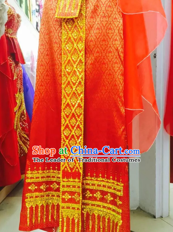 Traditional National Thai Garment Dress Thai Traditional Dress Dresses Wedding Dress online for Sale Thai Clothing Thailand Clothes