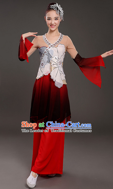 Wide Leggings Classical Dancing Costume and Headdress Complete Set for Women or Girls