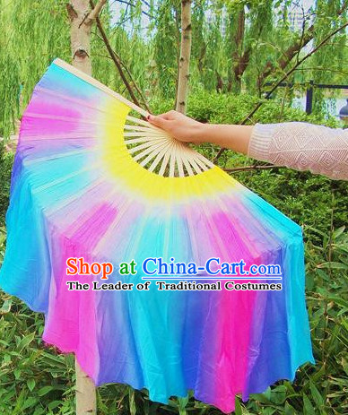 100% Pure Silk Professional Dancing Fan for Women Men Adults
