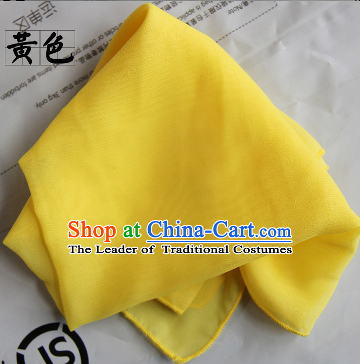 Yellow Chinese Classcial Dancing Props Handkerchief
