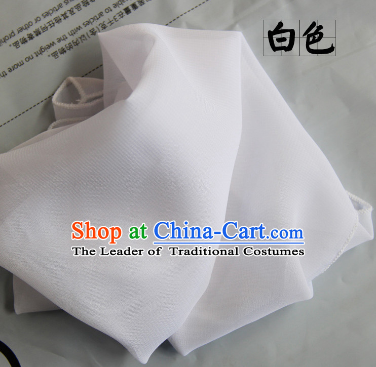 White Chinese Classcial Dancing Props Handkerchief