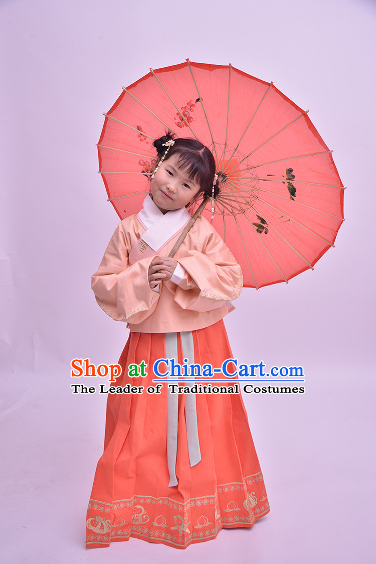 Traditional Hanfu Clothing Dress Buy Male Costume Robe Kimono Dress and Hat Complete Set for Kids Girls