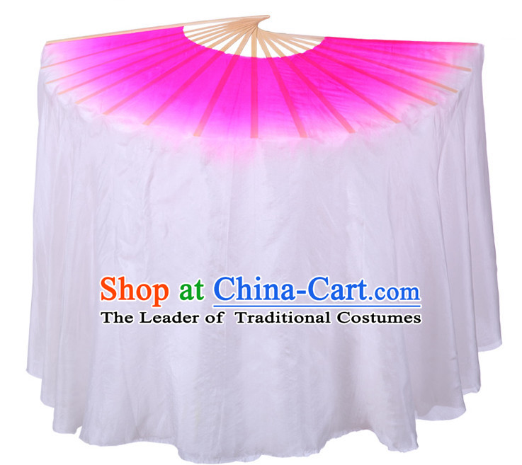 Pure Silk Traditional Chinese Fans Oriental Fan Folk Dance Dance Ribbons Cultural Dances Hand Fan