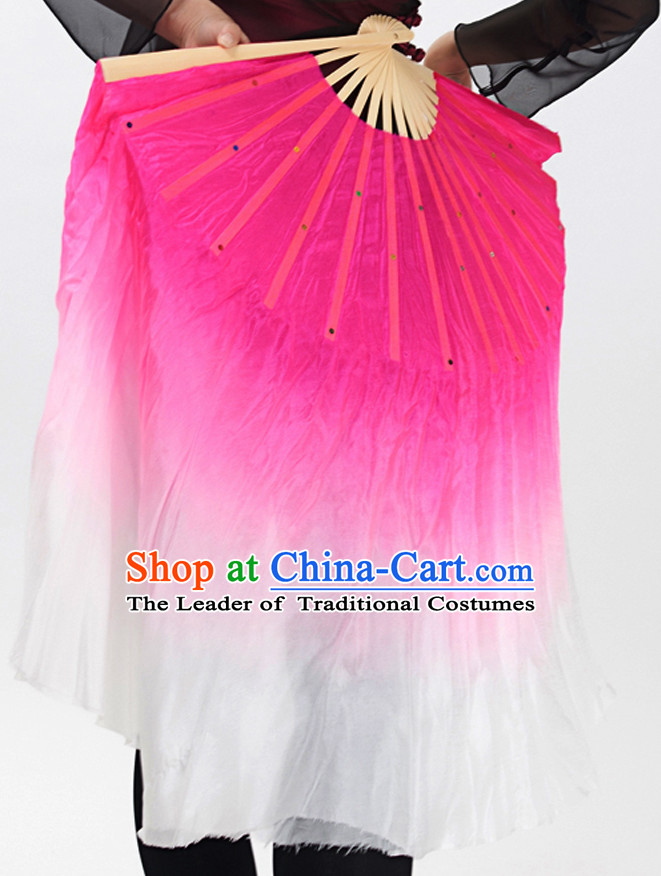 Double Sides Pure Silk Competition Dance Fan