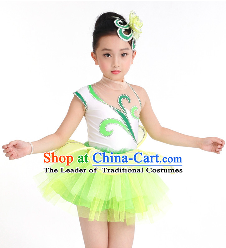 1f1437abde64 Chinese Competition Group Dance Costumes Kids Dance Costumes Folk ...