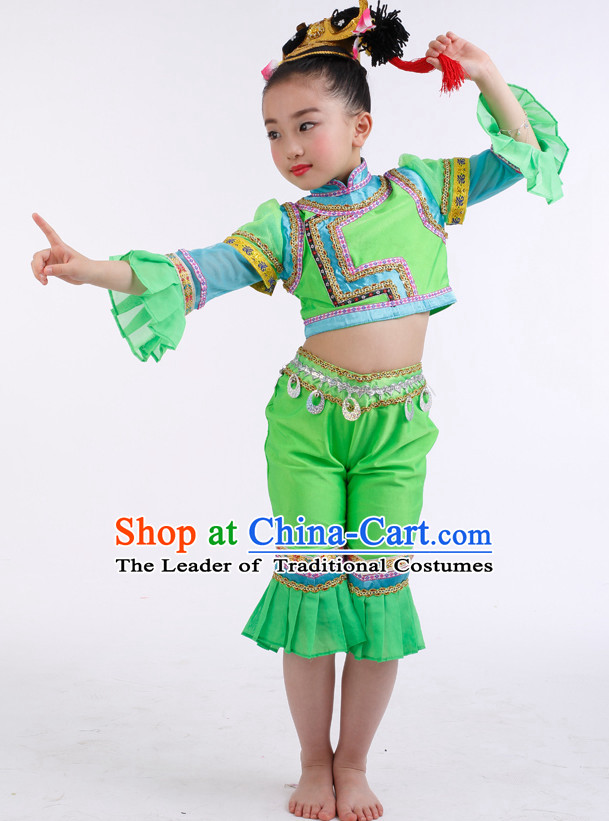 505e7db860d7 Chinese Competition Han Dance Costumes Kids Dance Costumes Folk ...