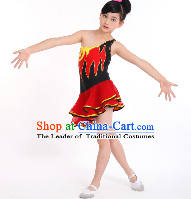 Chinese Competition Modern Dance Costumes Kids Dance Costumes Folk Dances Ethnic Dance Fan Dance Dancing Dancewear for Children