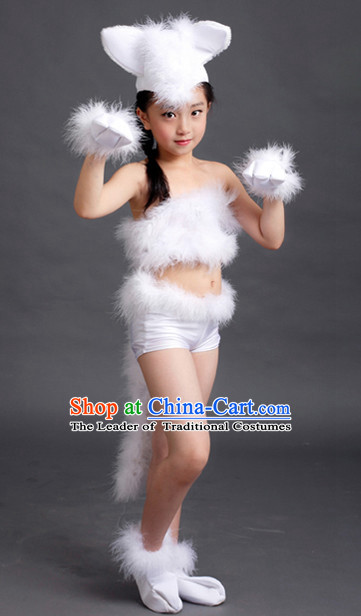 Chinese Competition Animal Dance Costumes Kids Dance Costumes Folk Dances Ethnic Dance Fan Dance Dancing Dancewear for Children