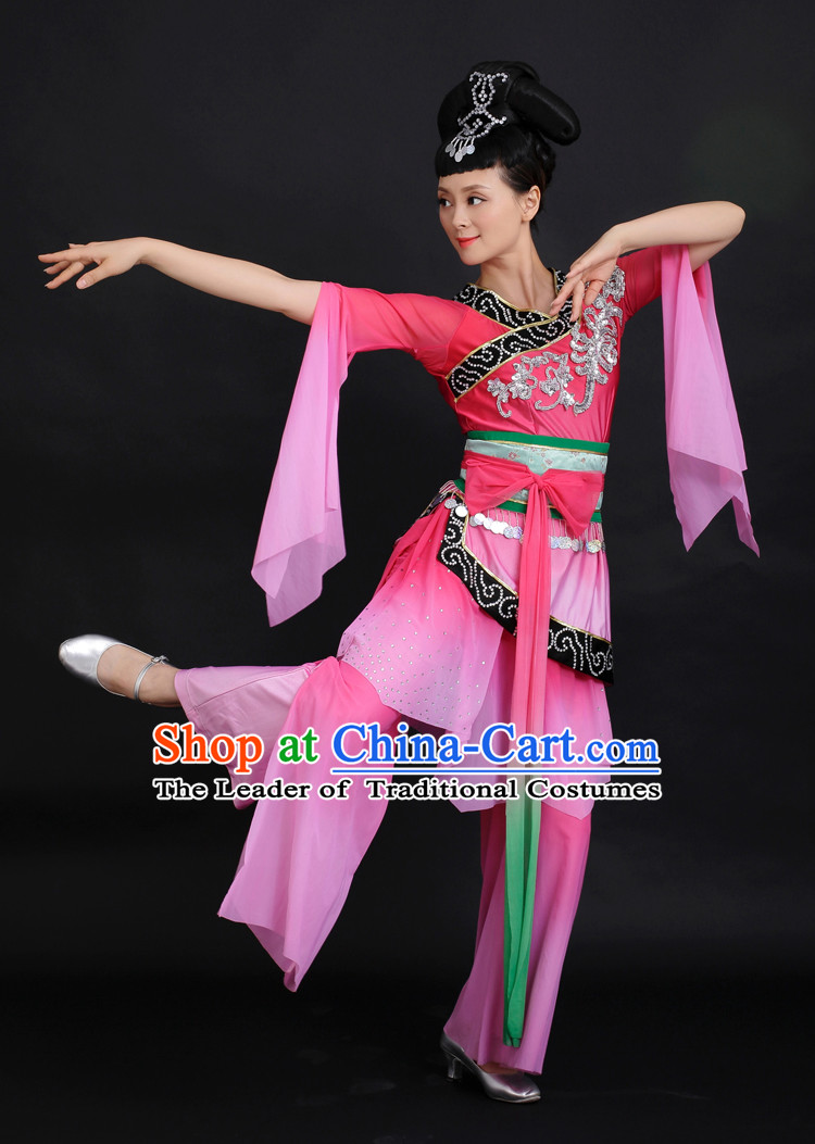 Chinese Competition Stage Fairy Dance Costumes Female Dance Costumes Folk Dances Ethnic Dance Fan Dance Dancing Dancewear for Women