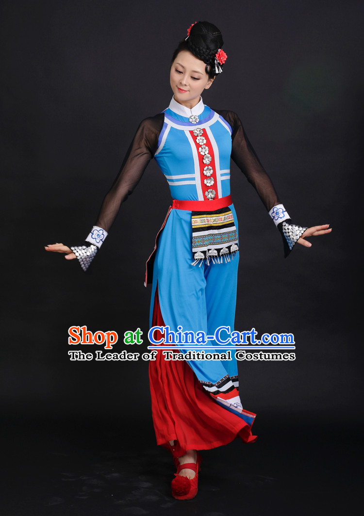 Chinese Competition Stage Tibet Dance Costumes Female Dance Costumes Folk Dances Ethnic Dance Fan Dance Dancing Dancewear for Women